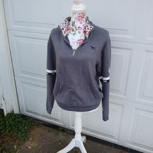 VS PINK quarter zip sweatshirt super cute